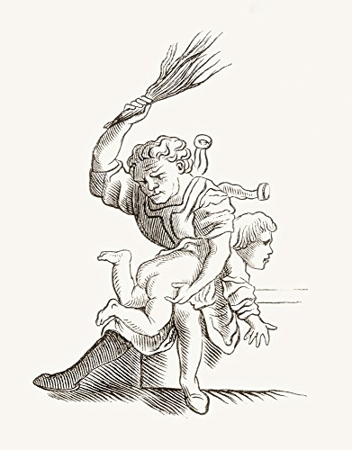 Ken Welsh/Design Pics - Drawing of A Man Spanking A Child After Hans Holbein The Younger. from Histoire des Peintres Cole Allemande Published 1875 Photo Print (30,48 x 40,64 cm)