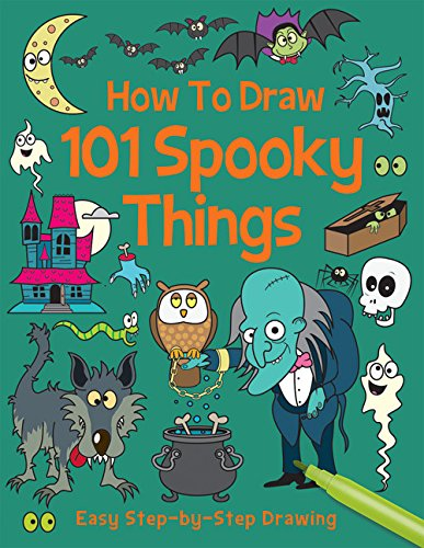 How to Draw 101 Spooky Things (Step by Step Drawing Book) (4 Halloween-kunst Grad)