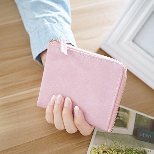 Borsa della moneta di Miss Bao Qian breve paragrafo studenti Zipper Mini borsa del portafoglio Portafoglio ( colore : Beige ) Rosa