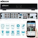 KKmoon 8 Canales DVR 960H D1 Grabador de Video (CCTV Network, H.264, P2P, HDMI Playback, Grabación Programada, Detección de Movimiento, Zoom Digital Sistema Vigilancia)