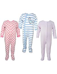 Teddy's Choice 100% Cotton Multi color 3 Combo Kid's Romper for 3-6 Months :Modle-017