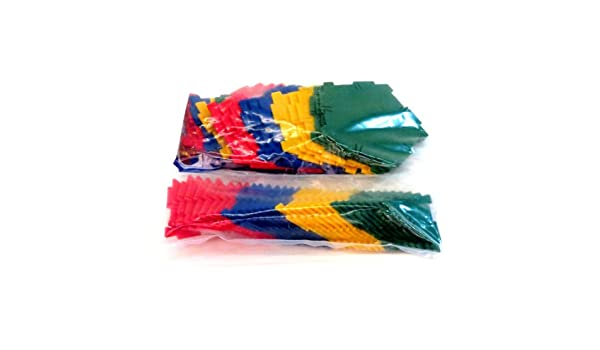 Polydron Multi-Colored Plastic Geometric Platonic Solids and