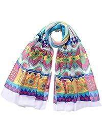 Smarstar À la mode Femmes Doux Fleur Imprimé Mousseline de soie Écharpe Cache-nez - couleur au choix