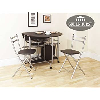 this item folding dining set drop leaf table and chairs butterfly dining table with four folding dining chairs black finish