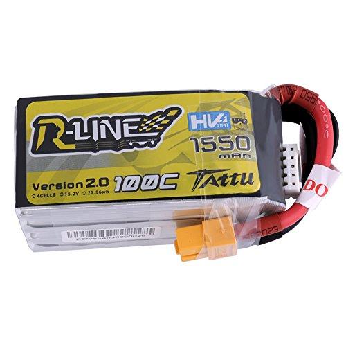 Tattu TA-RL-100C-1550-4S1P-HV 15,2 V 1550mAh 100C Lipo-Akku (Aaa-lipo-akku)