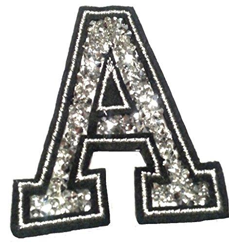 Bügel Iron on Buchstaben Aufnäher Patches für Jacken Cap Hosen Jeans Kleidung Stoff Kleider Bügelbilder Sticker Applikation Aufbügler zum aufbügeln A CA 8-10 cm