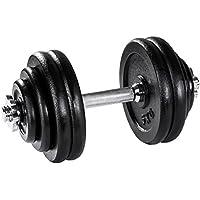 TecTake Mancuerna con pesas halteras de fitnes acero hierro musculación gimnasio - varios modelos - (