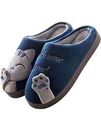 74256095c1d4 Cliont Carine Pantofole di Gatto Pantofole Invernali da Interno Scarpe  Antiscivolo Regalo Natalizio per Donna.