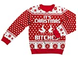 Shirtgeil Ugly Christmas Sweater - It's Christmas Bitches Weihnachtspulli Sweater Large Multicolor