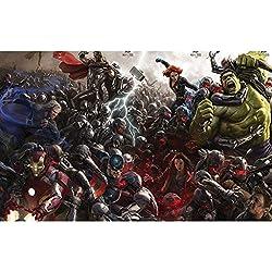 WZJ-Puzzle Rompecabezas de Madera Marvel Film Avengers 3, 500/1000/1500 Piezas (Color : E, tamaño : 1000pcs)