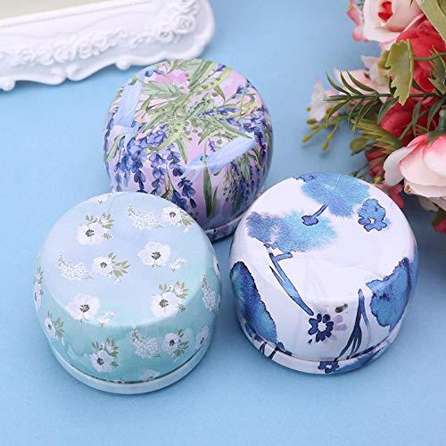 Storage Boxes & Bins - Retro Round Tin Box Tea Candy Jewelry Coin Jar Storage Makeup Container Case Candle Holder Wedding - Storage Bins Boxes Storage Boxes Bins Candle Ceramic Makeup Organ Foo