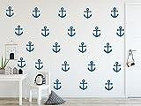 timalo - Wandtattoo 25 Stück kleine Anker enzianblau 73069-5x4cm - über 30 weitere Farben zur Auswahl