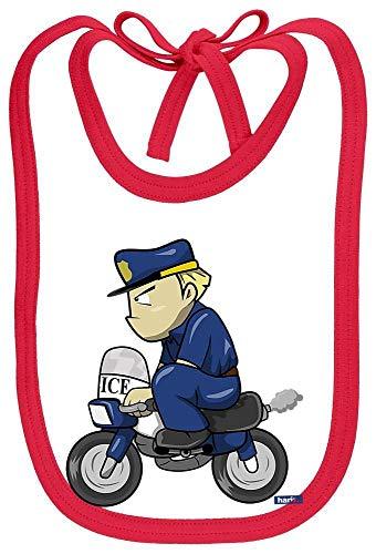 Für Erwachsene Kostüm Plus Rot - HARIZ Baby Lätzchen Schleife Polizist Lustig Motorrad Polizei Witizg Plus Geschenkkarten Weiß Feuerwehr Rot