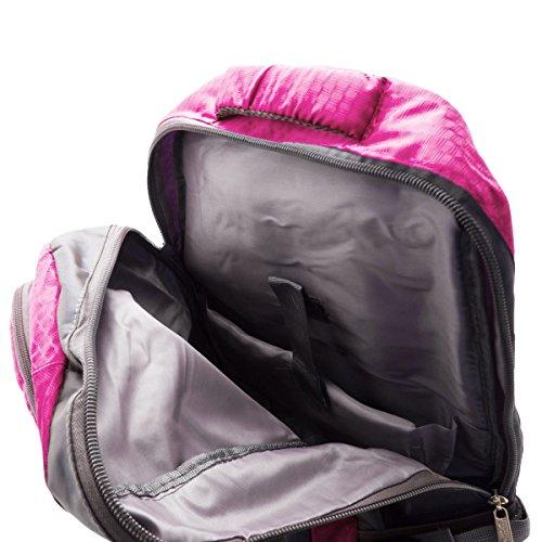 Tourenrucksack Wander-/ Sportrucksack mit weicher Polsterung inkl. Laptopfach 58 x 32 x 21 cm (Dunkelblau) Lila