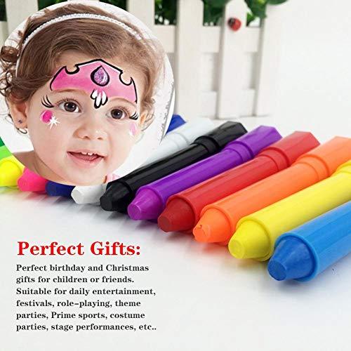 healingpie 12 Farben Gesicht Paint Set Crayon für Kinder, Kinder 12 Farben ungiftig Facial Painting Crayons Kit für Kostüm, Weihnachten, Partys, Cosplay