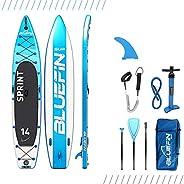 Bluefin SUP Opblaasbaar staande padddleboard, 14 inch, Sprint-model, Touring/Race-model, compleet met alle acc