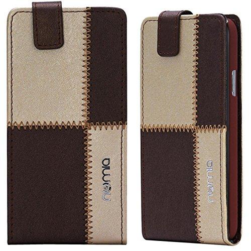 HTC Desire 310 Hülle, numia Handyhülle Handy Schutzhülle [Handytasche mit Standfunktion und Kartenfach] Pu Leder Tasche fürHTC Desire 310 Case Cover [Braun-Beige]