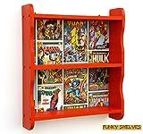 Étagère en bois étagère bibliothèque étagères livre Marvel Avengers Hulk, Spiderman, Thor garçons chambre pour enfant Boîte de rangement étagère murale bords ondulés