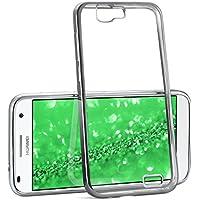 La caja del cromo para Huawei Ascend G7   Funda de silicona transparente con efecto metálico   Protección de celda fina bolsa de OneFlow   Backcover en Platin-Silver