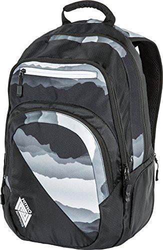 Nitro Snowboards Unisex Stash Rucksack Mountains Black/White