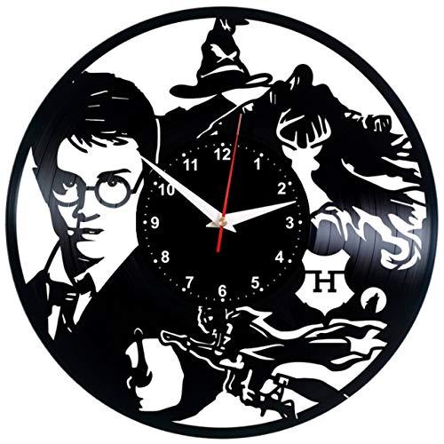 """51xZKoCw4kL - HARRY POTTER Reloj De Pared Vintage Accesorios De Decoración del Hogar Diseño Moderno Reloj De Vinilo Colgante Reloj De Pared Reloj Único 12"""" Idea de Regalo Creativo vinilo pared Reloj HARRY POTTER"""