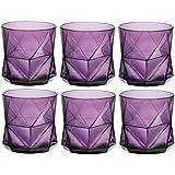 Bormioli Rocco Cassiopea Tumbler Glasses - 330ml (11.25oz) - Amethyst Purple - Set of 6