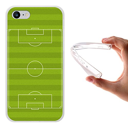 WoowCase Hülle Case für [ iPhone 7 ] Handy Cover Schutzhülle Strategie Fußballtisch Housse Gel iPhone 7 Transparent D0088