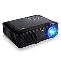 4000 Lumens Video Projector Full HD 1080P, Joyhero SV - 228 Portable HD LED Home Theater 1280 ?? 800 Pixels Multimedia Projector for Games and Parties PC Laptop Smartphone Xbox TV Box(Black)