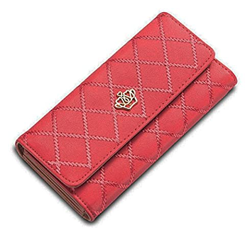 Fashion Women Lady PU Leather Wallet Crown Purse