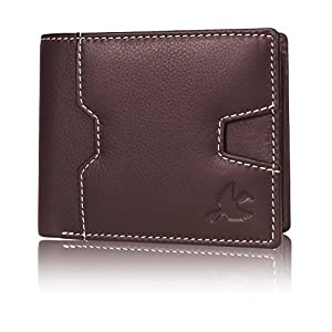 Hornbull Edward Brown Men's Genuine Leather RFID Blocking Wallet Best Online Shopping Store