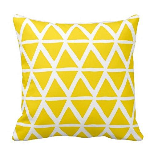 Gelbes Kissen, Dreiecke geometrische Dekorativer Kissenbezug für Wohnzimmer Couch? A