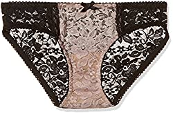 PrettySecrets Womens Bikini (PS1215SBLBKN03_Nude and Black_Small)