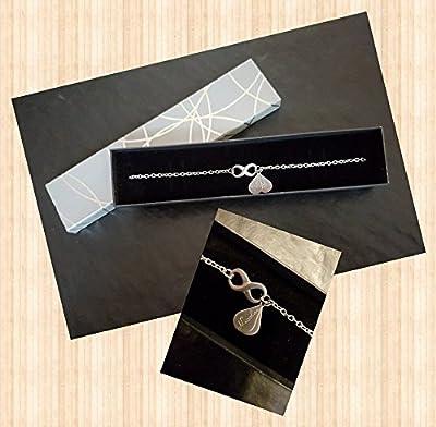 Bracelet infini gravure personnalisée en acier inox