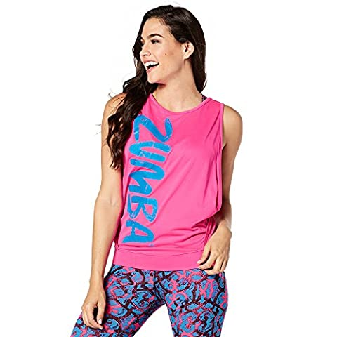 Zumba Fitness Dance Gypsy Débardeur Femme, Shocking Pink, FR : XS (Taille Fabricant : XS)