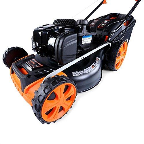 FUXTEC FX-RM20BS625 Benzin Rasenmäher mit GT Selbstantrieb Motor Easy Clean Briggs Stratton Motormäher 4in1 Mulchen