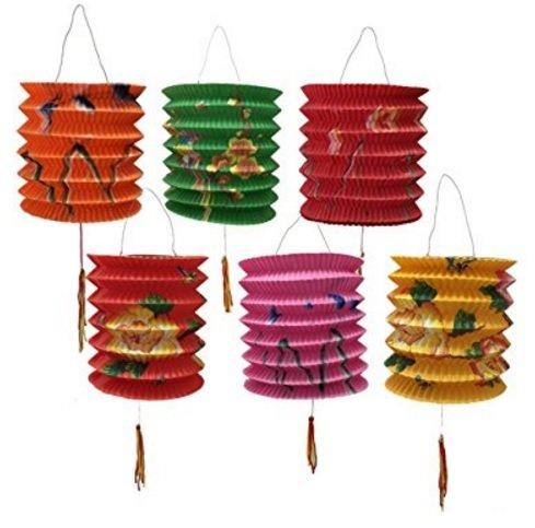(DMtse Papierlaternen, 12cm Durchmesser, 12Stück, Farb-Mix, chinesisches Neujahr, sortiert)