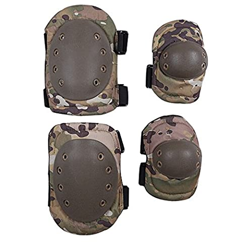 G-i-Mall Advanced Tactical Protective Pad Set with Knee Pads and Elbow Pads 2 packs/ CP Camouflage