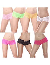 L&K-II - Lot de 4/7 - Shorty - Boxer - Uni - Femme - MDU3409