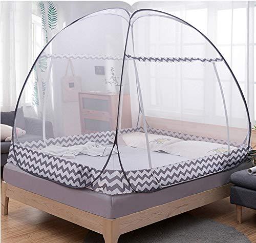 HCMPM Moskitonetz Doppeltür Jurte Pop-up-Bett Fett Konto garnfreie Installation zusammenklappbar für Baby Erwachsenenheim Schlafsaal Einzelbett Moskitonetz,Brown,120 * 200cm