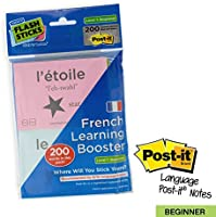 FlashSticks French Beginner Level 1 Printed Post-it Notes
