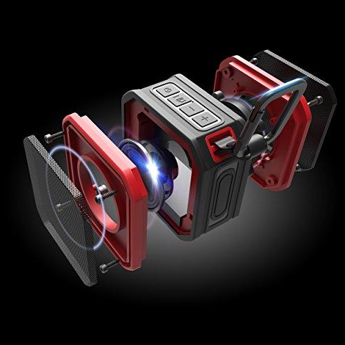VEHEMO Altavoz Bluetooth Portatiles IPX7 Impermeable para la Ducha Bluetooth 4.2 y AUX Mini Altavoces para el Exterior y Deporte al aire libre 5W Estéreo Compatibilidad General Llamadas Manos Libres SP C1