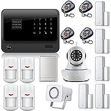 Golden Seguridad inalámbrica Pantalla táctil Teclado Pantalla LCD Internet Wifi GSM GPRS SMS OLED Home Casa Seguridad Sistema de Alarma Control de Aplicación + cámara IP Aplicación integrado en la alarma