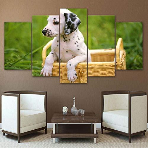 Kent Bailey zu Hause Dekoration leinwand hd bilddrucke 5 Panel süßen schoßhund Bild Mauer Kunst modulare Poster Moderne Wohnzimmer -