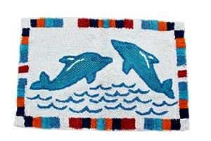 homescapes kinderteppich delphin bunter teppich vorleger 50 x 85 cm farben blau und. Black Bedroom Furniture Sets. Home Design Ideas