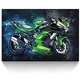 CanvasArts Kawasaki Ninja H2 SX (100 x 70 cm)