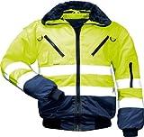 Warnschutz-Piloten-Jacke Arbeits-Jacke - EN 471 Klasse 3 - 4 in 1 Funktion - gelb/marine