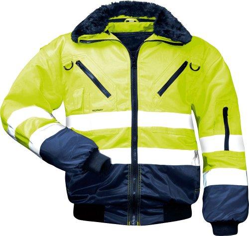 Rensing 23648 Sicherheitsausrüstung und -kleidung, Gelb/Marine, L (Größentabelle Jacke Große Herren)