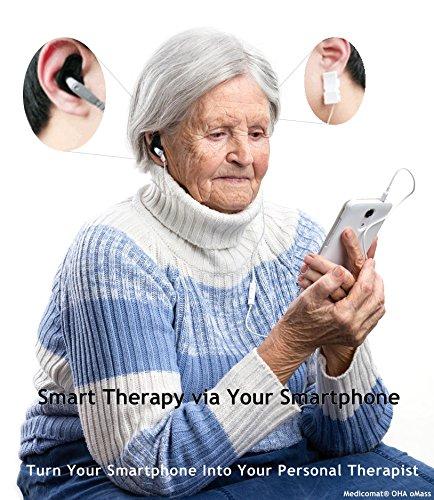 Selbsthilfe Behandlung via iPhone für Depression Angst Stress Schmerz Müdigkeit hoch Niedriger Blutdruck Aches Körper Entspannung Schlaf (Medicomat-1 OMass Geräte App mit Elbow für iPhone iPad iOS)