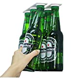 Magenesis Supporto magnetico per birra/gruccia per 6bottiglie, salva spazio e organizzare bottiglie frigorifero il tetto e griglie–un regalo ideale per chi ama le bevande fredde birra