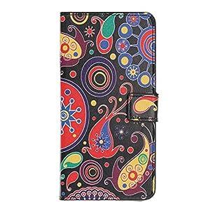 Hülle für Samsung Galaxy A9 2018, Premium Leder Handy Schutzhülle für Samsung Galaxy A9 2018 Flip Case Brieftasche Etui Schutzhülle Standfunktion Kartenfach Magnetverschluss Schutzfolie Case, Blume